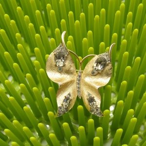 Crown Trifari Jewelry - Pair of Vintage Crown Trifari Butterfly Brooches
